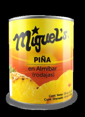 Piña Miguel's en Almibar Rodaja 29oz