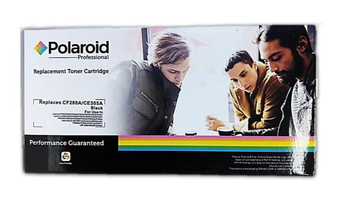 Toner Cartridge POLAROID Replaces CF280A / CE505A  NEGRO