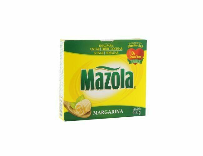 Margarina Mazola en Barra 400 gr