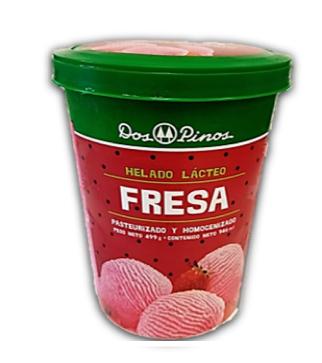 Helado de Fresa 1/4 Galon Dos pinos
