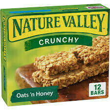Granola Nature Valley Bars Oats�n Honey (Avena y Miel) 8.9oz