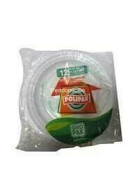 Plato Polipak Oxo Biodegradable Blanco #8 24 unidades