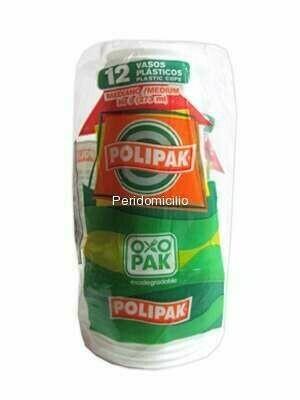 Vaso Polipak Oxo Biodegradable #16 24 unidades