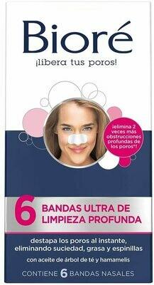 Banditas Biore Limpieza Profunda Ultra Nariz 6 unidades