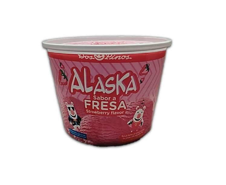 Helado Alaska Fresa 1/2 Galon