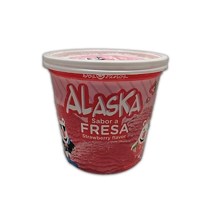 Helado Alaska Fresa 1/4 Galon