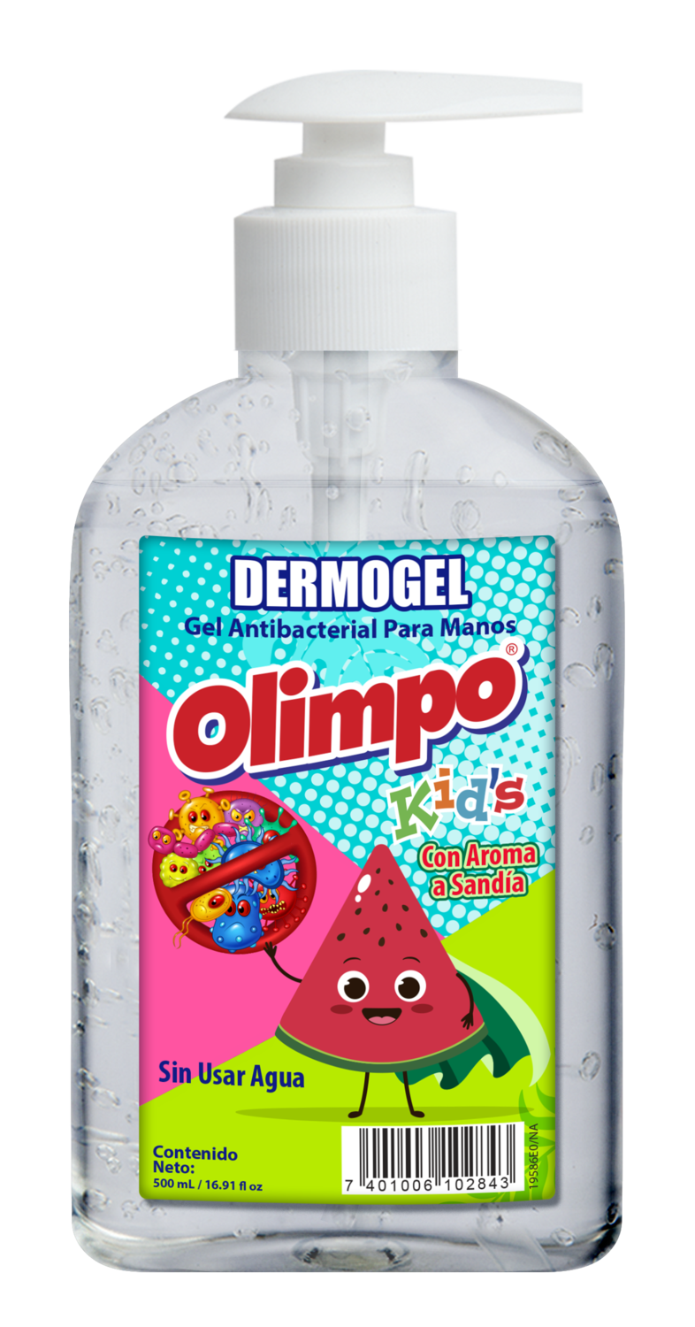 Dermo Gel Antibacterial Olimpo Kids Sandia 500ml