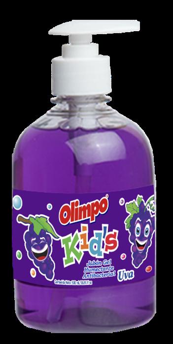 Jabon Liquido Antibacterial Olimpo Kids Uva 500ml