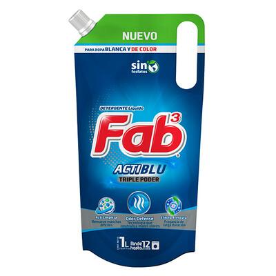 Detergente Liquido Fab3 Actiblu 1lt