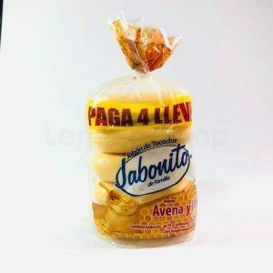 Jabon de Tocador Jabonito Avena & Miel 5pack 350gr