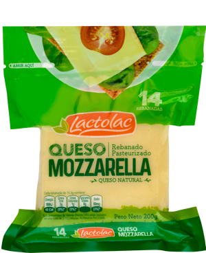 Queso Mozzarella Rebanado 200 grs