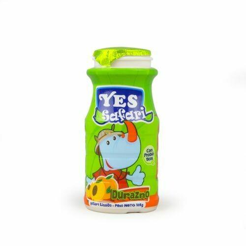 Yogurt YES Liquido Safari Durazno 100ml