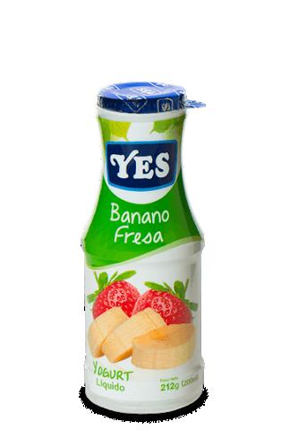 Yogurt YES Liquido Banano Fresa 200ml