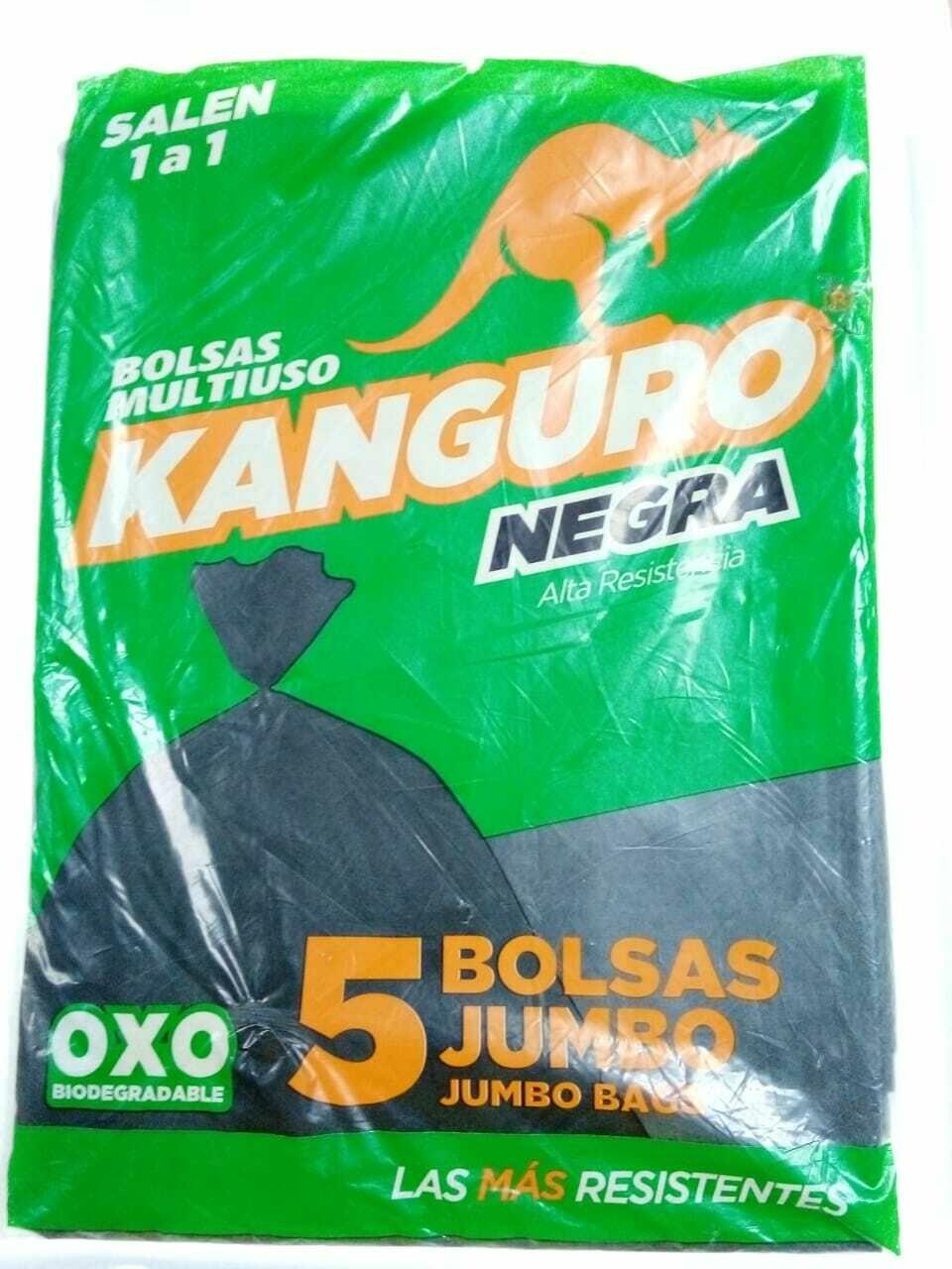 Bolsa Kanguro Negra Gigante 5 unidades