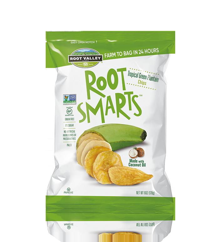 Tropical Green Plantain Chips - Platano Root Smarts