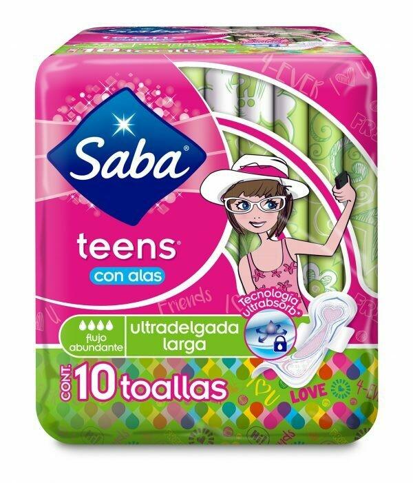 Toalla Saba Teens Alas Larga 10 unidades