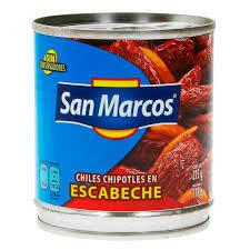 Chile Chipotles en Escabeche San Marcos 215 grs