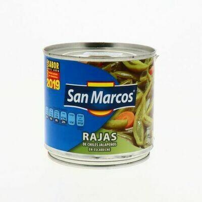Chiles Jalapeño en Escabeche en Rajas San Marcos 380gr