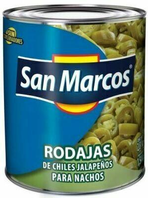 Chiles Jalapeños en Rodajas para Nachos San Marcos 215 grs