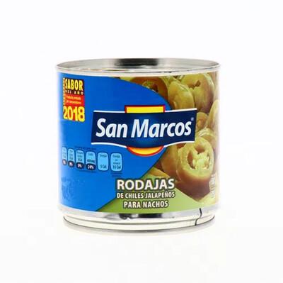 Chiles Jalapeños en Rodajas para Nachos San Marcos 380 grs