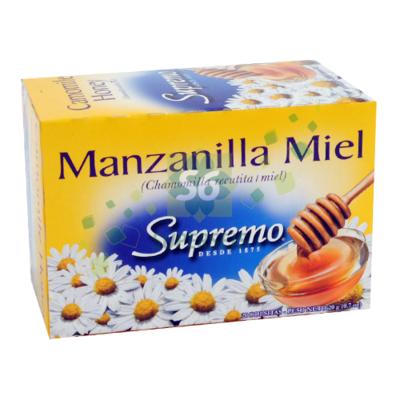Te de Manzanilla Miel  Supremo 20 bolsas