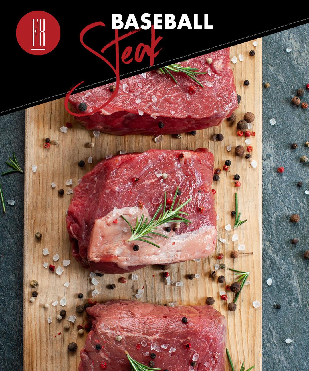 Baseball Steak Aprox 1.8 - 1.9 Lb - Bistec de Aguayon/Lomo (Congelado)