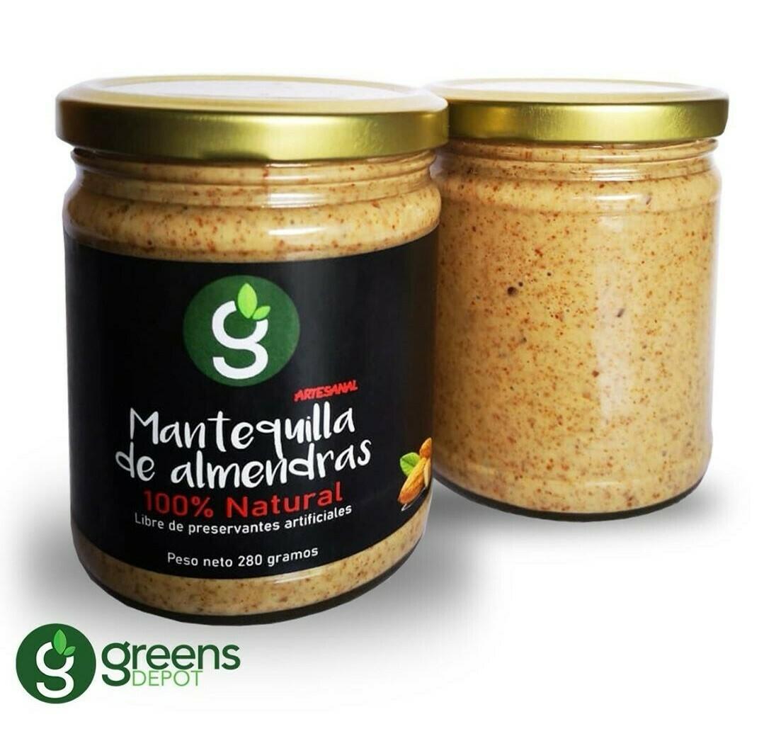 Mantequilla de Almendras Greens Depot 280gr