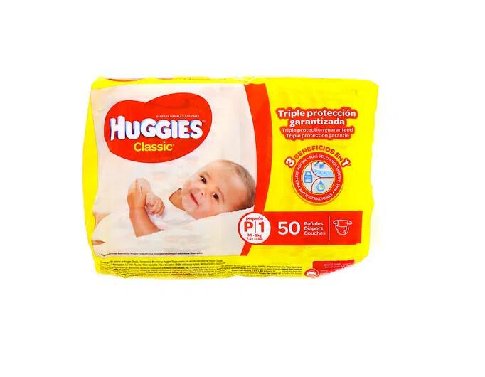 Pañales Huggies Classic Pequeño 50 unidades P1