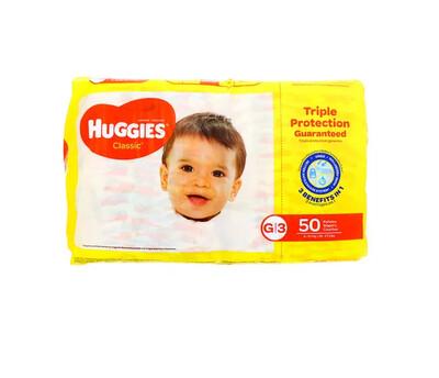 Pañales Huggies Classic Grande 50 unidades G3