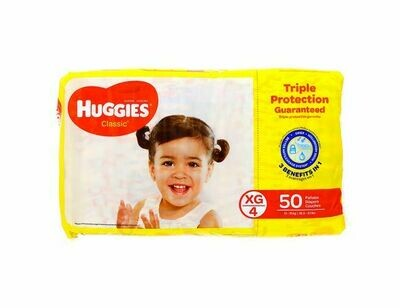 Pañales Huggies Classic Extra Grande 50 unidades XG4