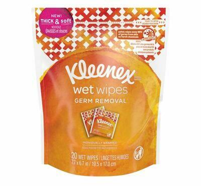 Toallitas Humedas Kleenex Anti Bacterial Germ Removal 20 Unidades
