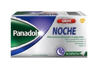Panadol Gripe Noche Caja de 16 Tabletas