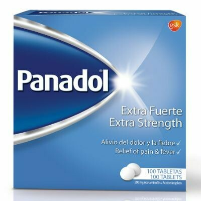 Panadol Extra Fuerte Caja de 100 Tabletas