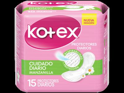 Protector Kotex Cuidado Diario Manzanilla 15 unidades