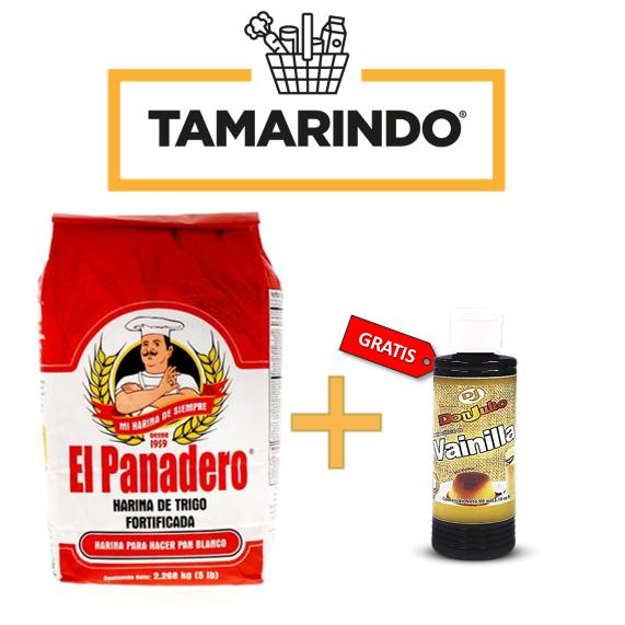 Promoción Harina de Trigo El Panadero 5 Lbs + Vainilla Don Julio 90ml/ 3.10oz Gratis