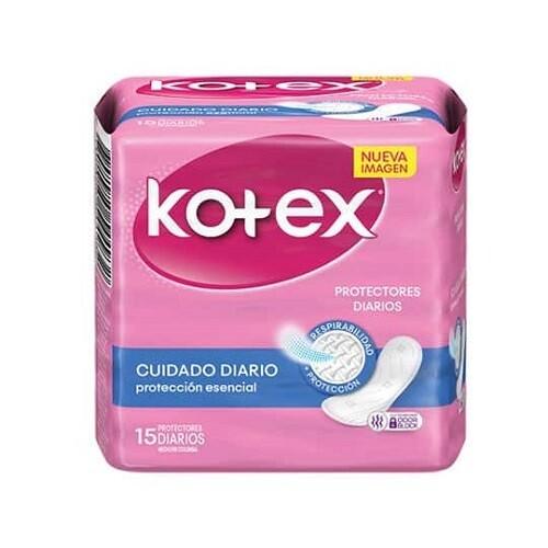 Protector Kotex Cuidado Diario 15 unidades