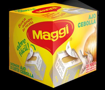 Maggi Cubitos de Ajo Cebolla 25 unidades 100gr