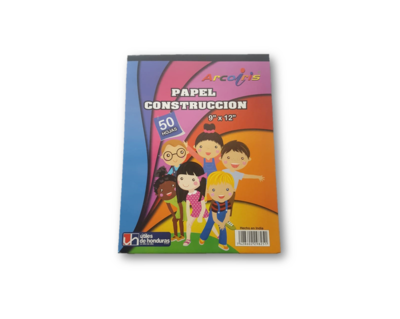 Papel Construccion Arcoiris 50H