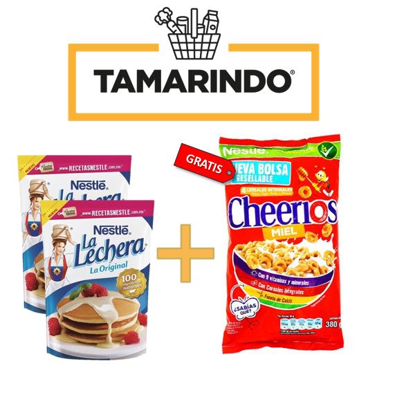 Promoción 2 Leches Condensadas La Lechera Bolsa 190gr + Cereal Cheerios de 380 gr. Gratis.