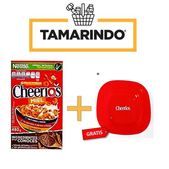 Promoción Cheerios Cereal Miel 480gr + Plato plastico Gratis