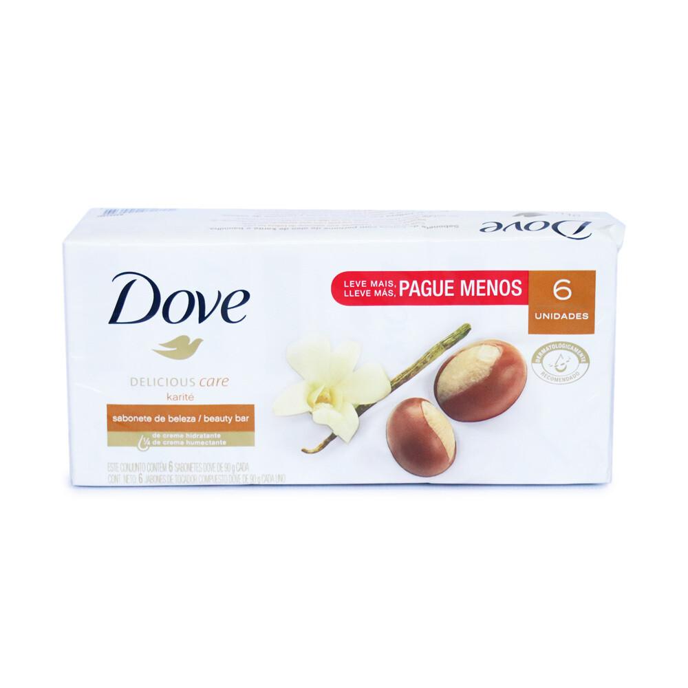 Jabon Dove Karite 6Pack 90gr/ 6 unidades