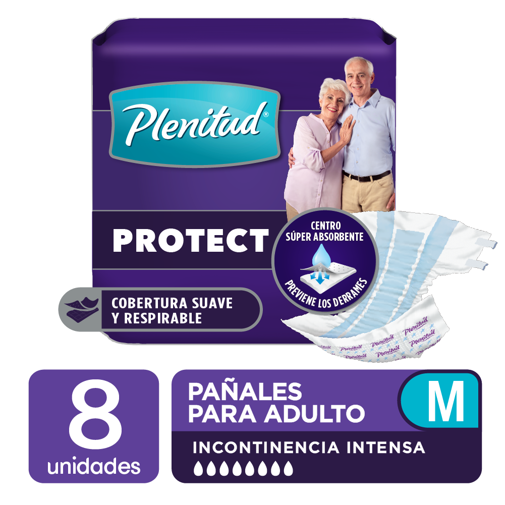 Pañal de Adulto Plenitud Respirable Medium (70-110cm) 8 Unidades