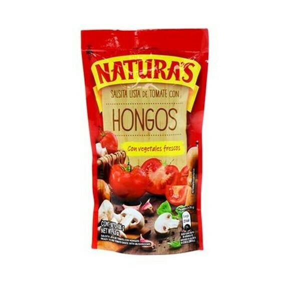 Salsa Tomate Con Hongo Naturas 210gr