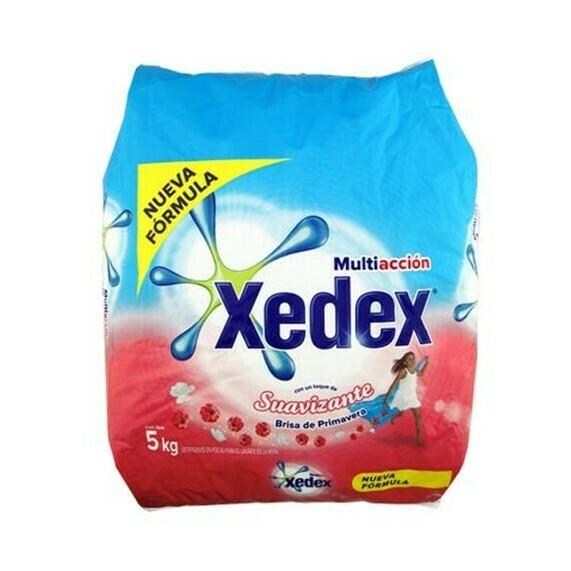 Detergente Xedex en Polvo  Suavizante B Primavera 5Kg