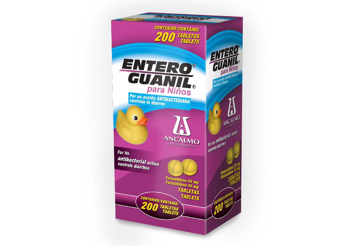 Enteroguanil Niño 50mg 200 Tabletas