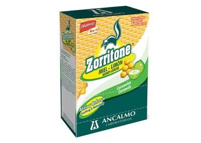 Zorritone Caramelo Miel Limon 12 Barras