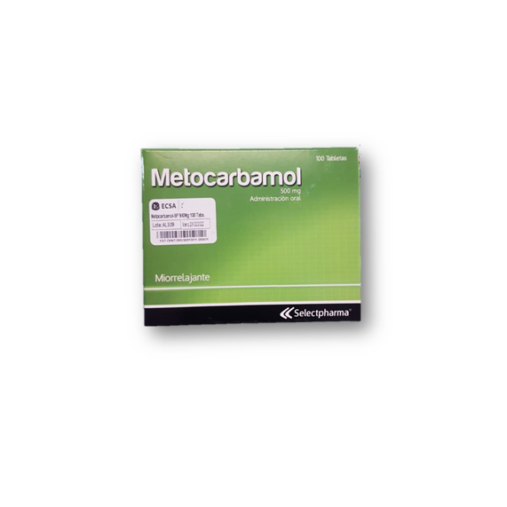 Metocarbamol-SP 500mg 100 Tabletas
