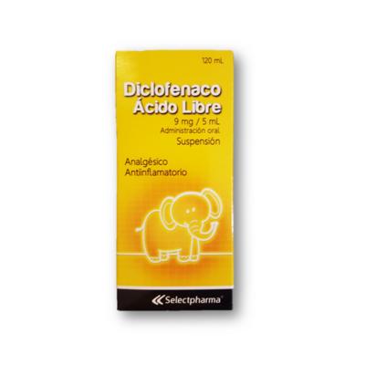 Diclofenaco-SP Acido Libre Suspension 120ml