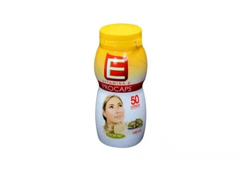 Vitamina E 100 ui Frasco 50 Capsulas Blandas