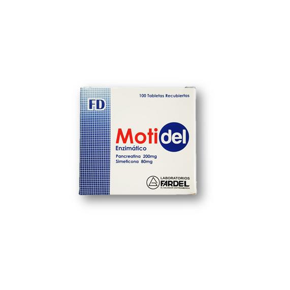 Motidel Enzimatico Disp. 100 Tabletas